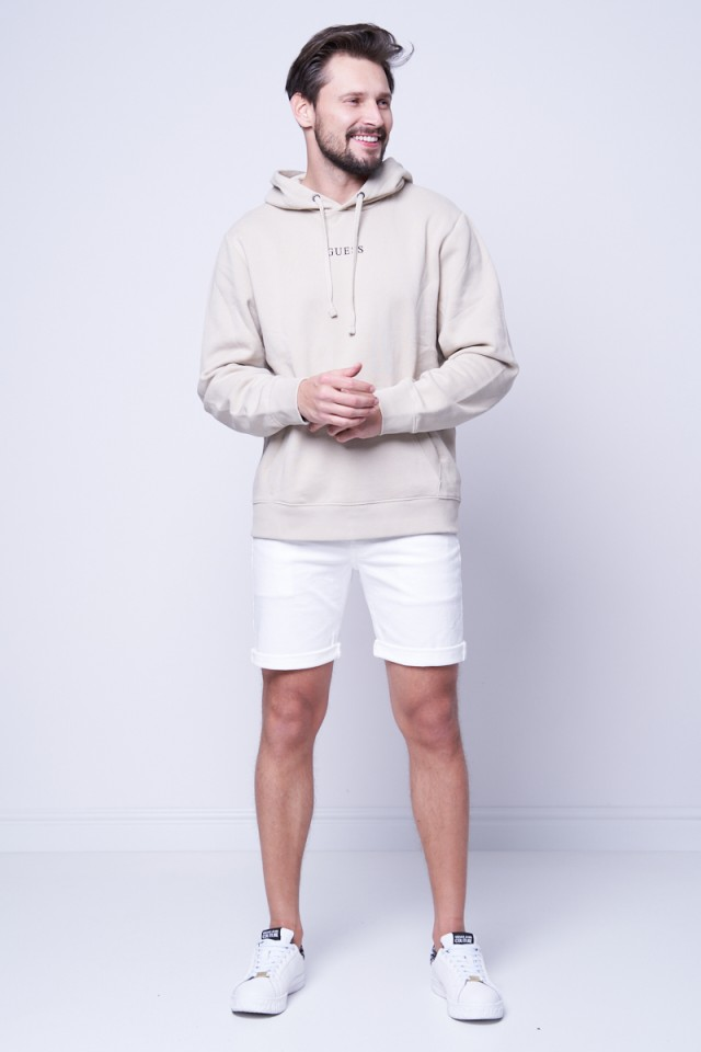 Bluza z kapturem beżowa GUESS