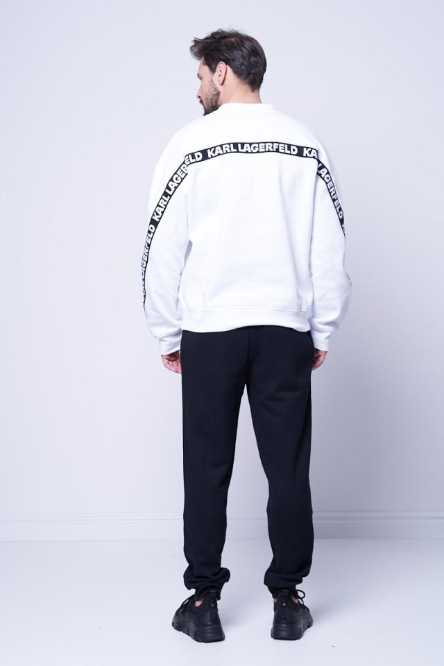 Spodnie dresowe z logo na nogawce KARL LAGERFELD