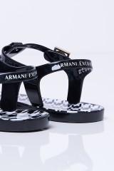 Japonki czarne z logo ARMANI EXCHANGE