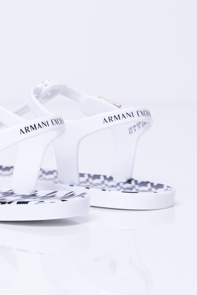 Japonki białe z logo ARMANI EXCHANGE