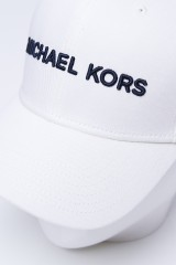 Czapka z daszkiem biała MICHAEL KORS