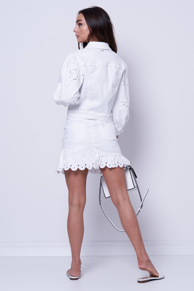 Kurtka jeansowa biała LIU JO