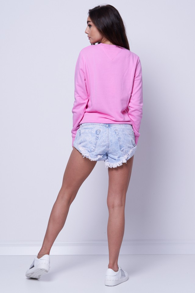 Bluza wkładana różowa ESSENTIAL LOGO TOMMY JEANS