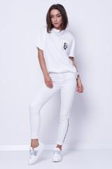 T-shirt biały IKONIK GRAFFITI POCKET KARL LAGERFELD