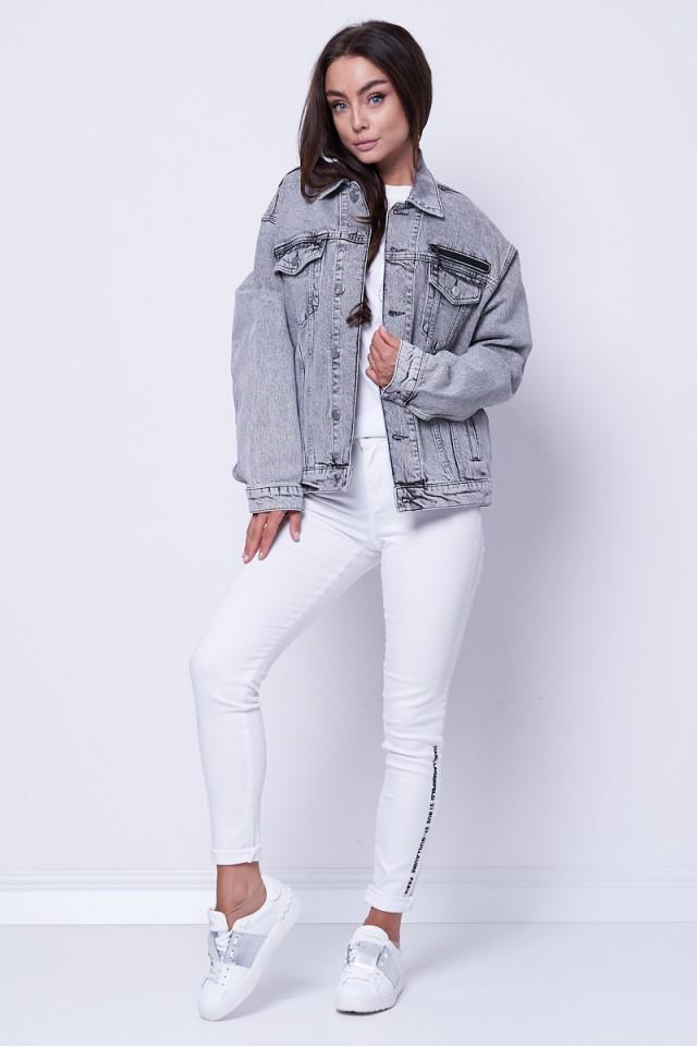 Kurtka jeansowa z logo UNISEX DENIM KARL LAGERFELD
