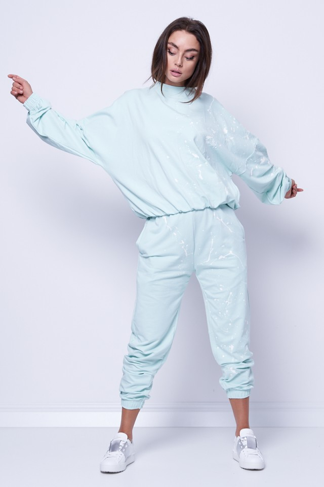 Bluza wkładana mięta LOVE ME JOANNA MUZYK