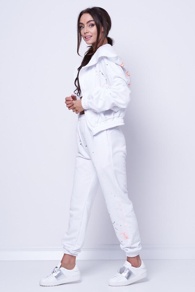 Bluza na zamek z kapturem LOVE ME WHITE COLORS JOANNA MUZYK