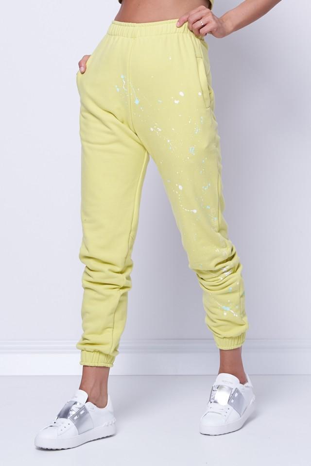 Spodnie dresowe LOVE ME LIME GREEN JOANNA MUZYK