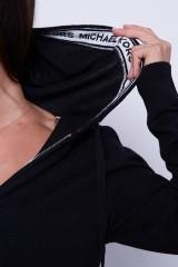 Bluza z kapturem czarna MICHAEL KORS