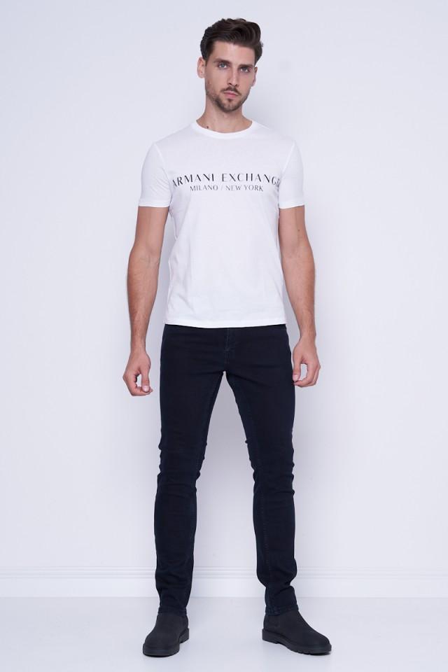 T-shirt z klasycznym logo biały ARMANI EXCHANGE
