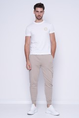 T-shirt biały VEMBLEM EMBRO VERSACE JEANS COUTURE