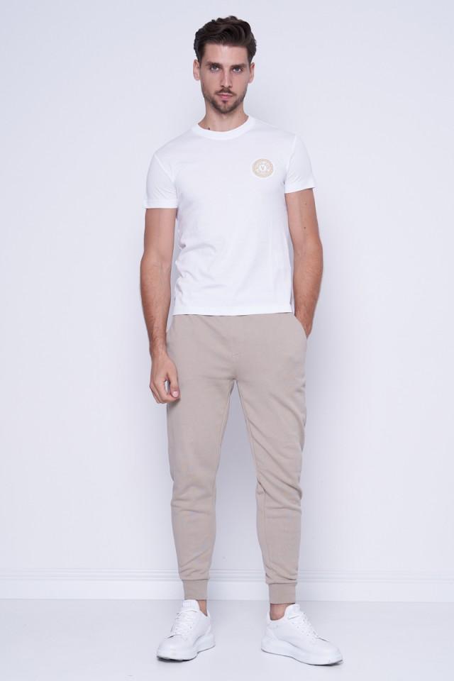 Spodnie dresowe z logo beżowe CALVIN KLEIN JEANS