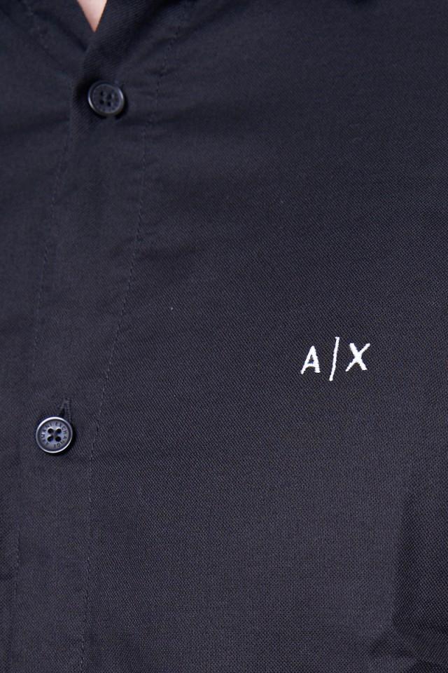 Koszula z klasycznym logo czarny ARMANI EXCHANGE