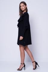 Sukienka dzianinowa czarna RIGEL SILVIAN HEACH