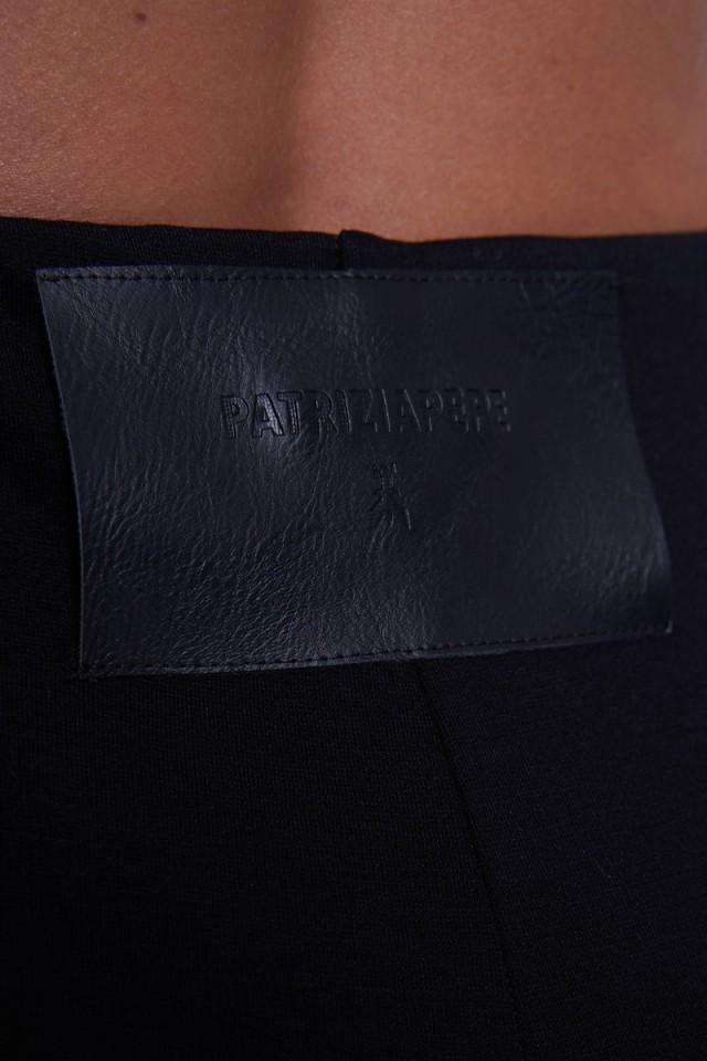 Legginsy z logo czarne PATRIZIA PEPE