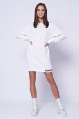 Sukienka biała CABLE SWEATER TOMMY JEANS