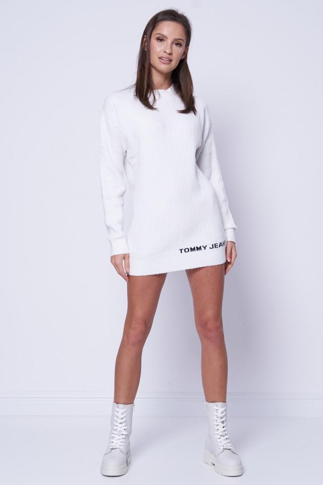 Sweter z golfem biały LOFTY TOMMY JEANS