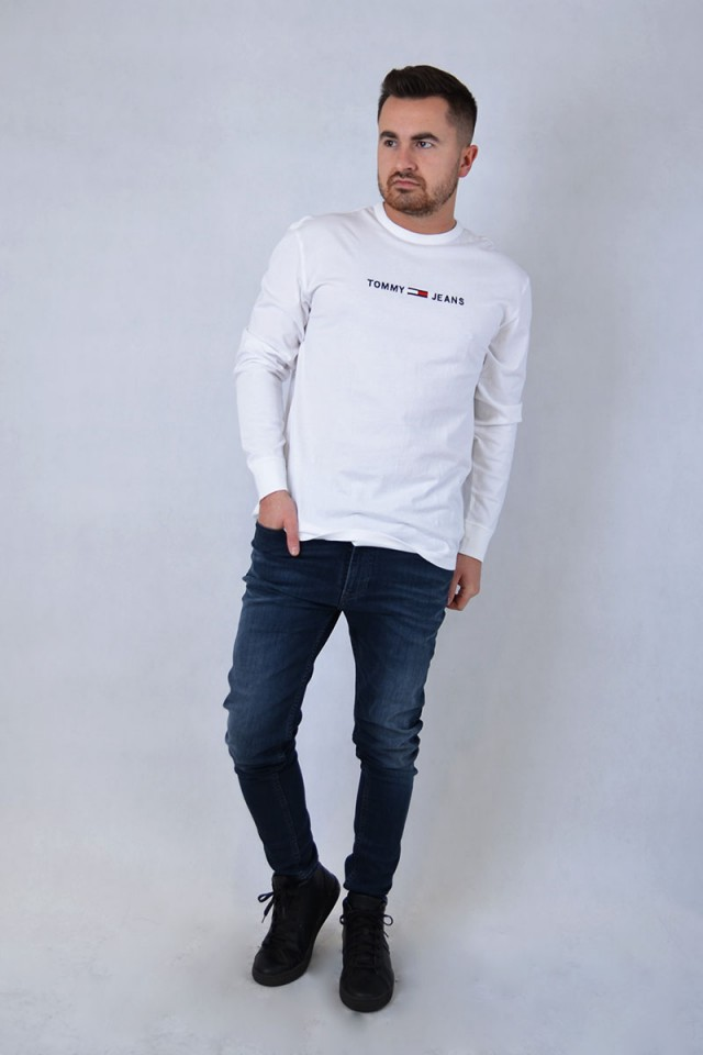 Longsleeve TJM SMALL TEXT WHITE TOMMY JEANS