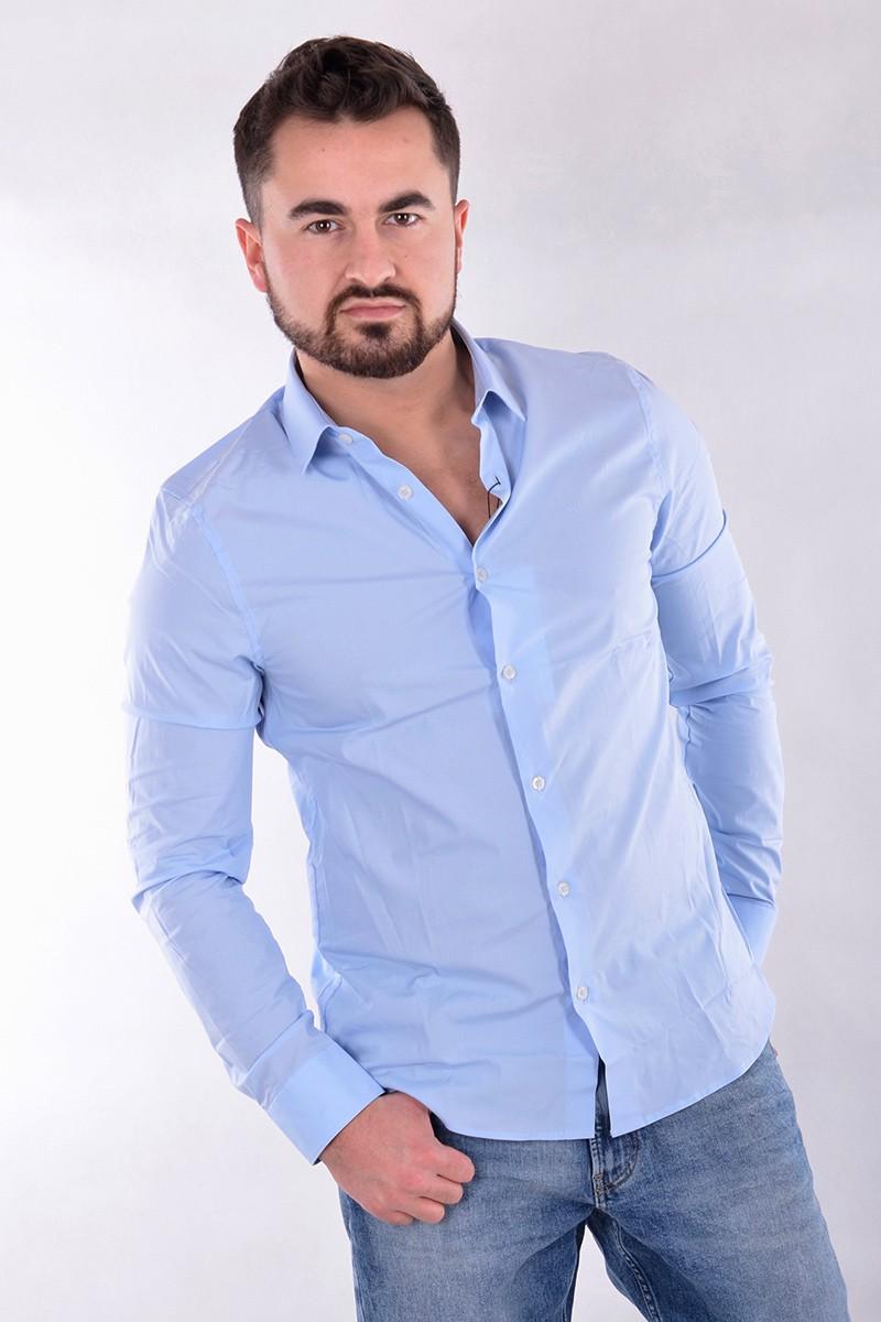 c38df8ae7 Calvin Klein Jeans Koszula CK LOGO CHAMBRAY BLUE CALVIN KLEIN JEANS ...