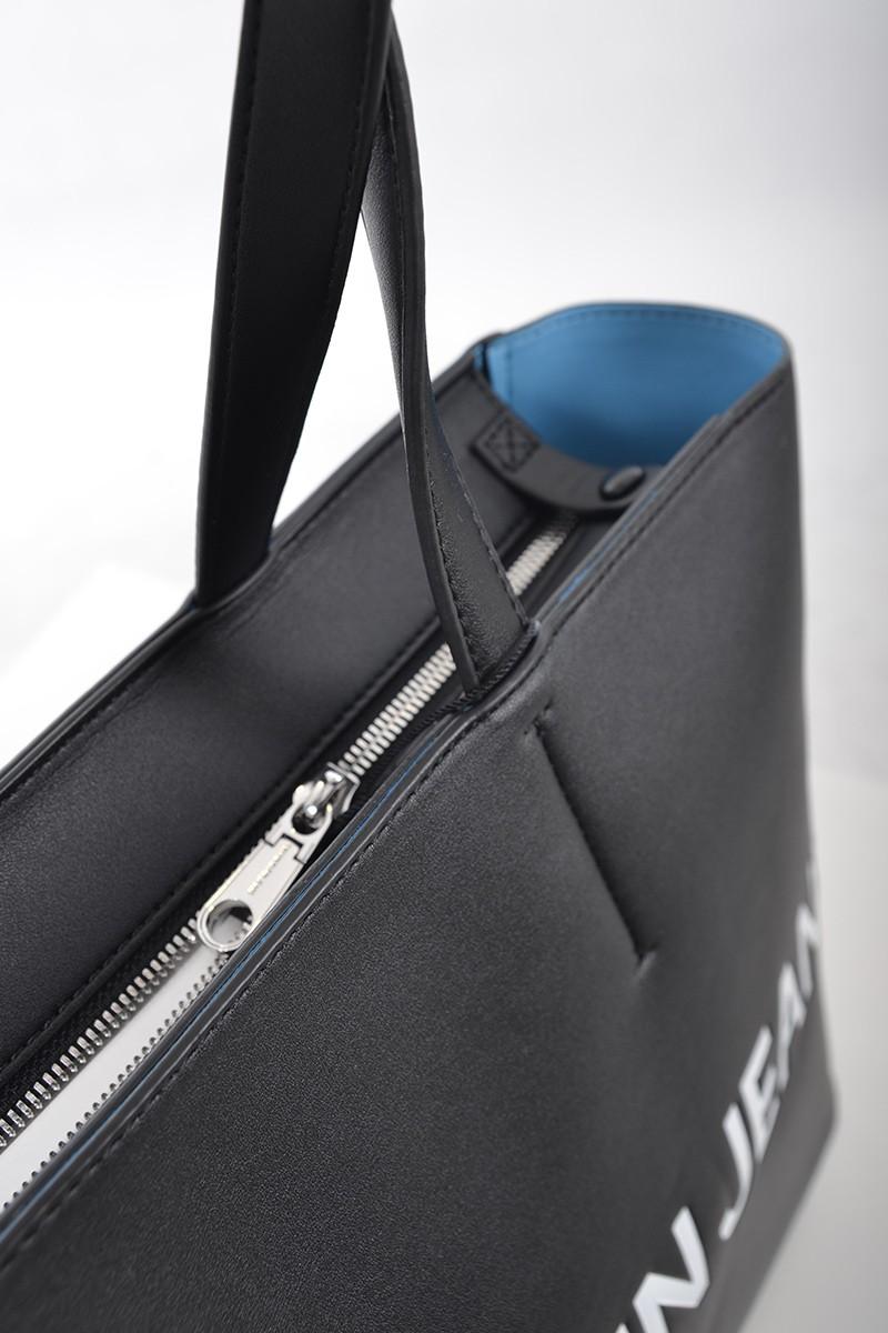 83f53a90b800c Calvin Klein Jeans Torebka SCULPTED LOGO E/W TOTE BLACK CALVIN KLEIN ...