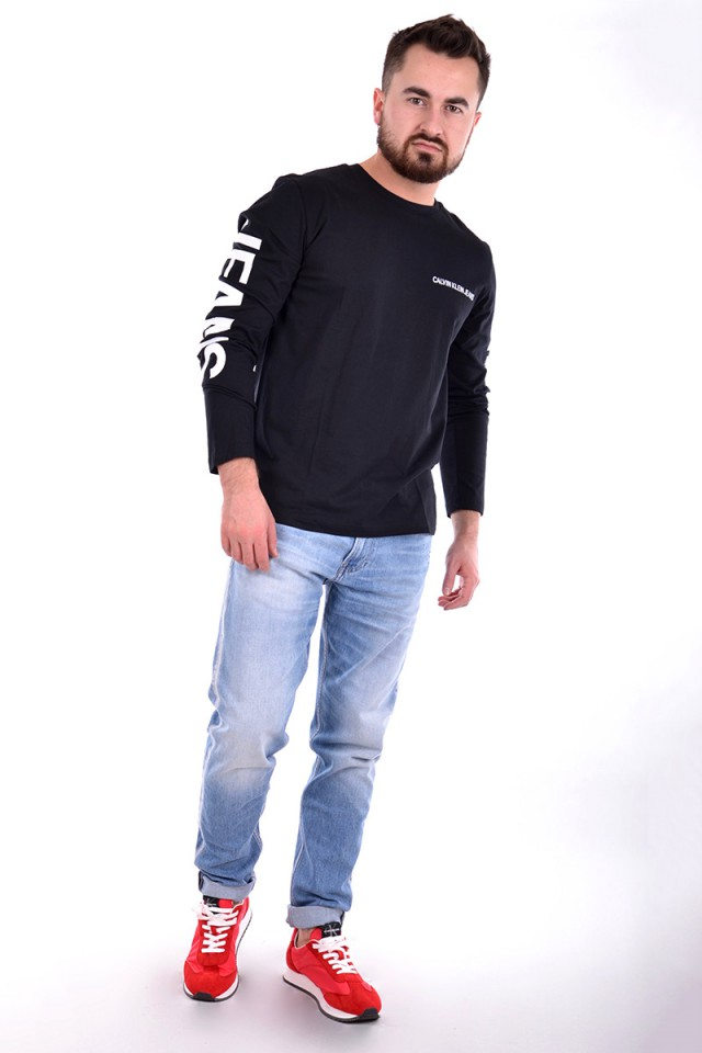 Longsleeve INSTITUTIONAL BACK PRINT BLACK CALVIN KLEIN JEANS