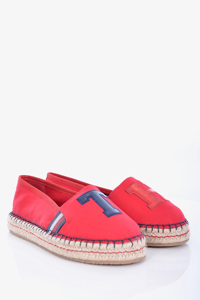 1a21940ae5b40 Tommy Hilfiger Espadryle TH PATCH ESPADRILLE RED TOMMY HILFIGER ...