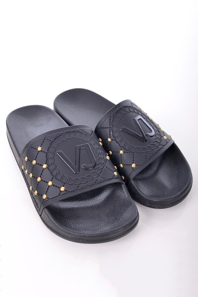 c7d044e077936 Versace Jeans Klapki L. FONDO SEA COLECCTION DIS. 4 BLACK VERSACE ...