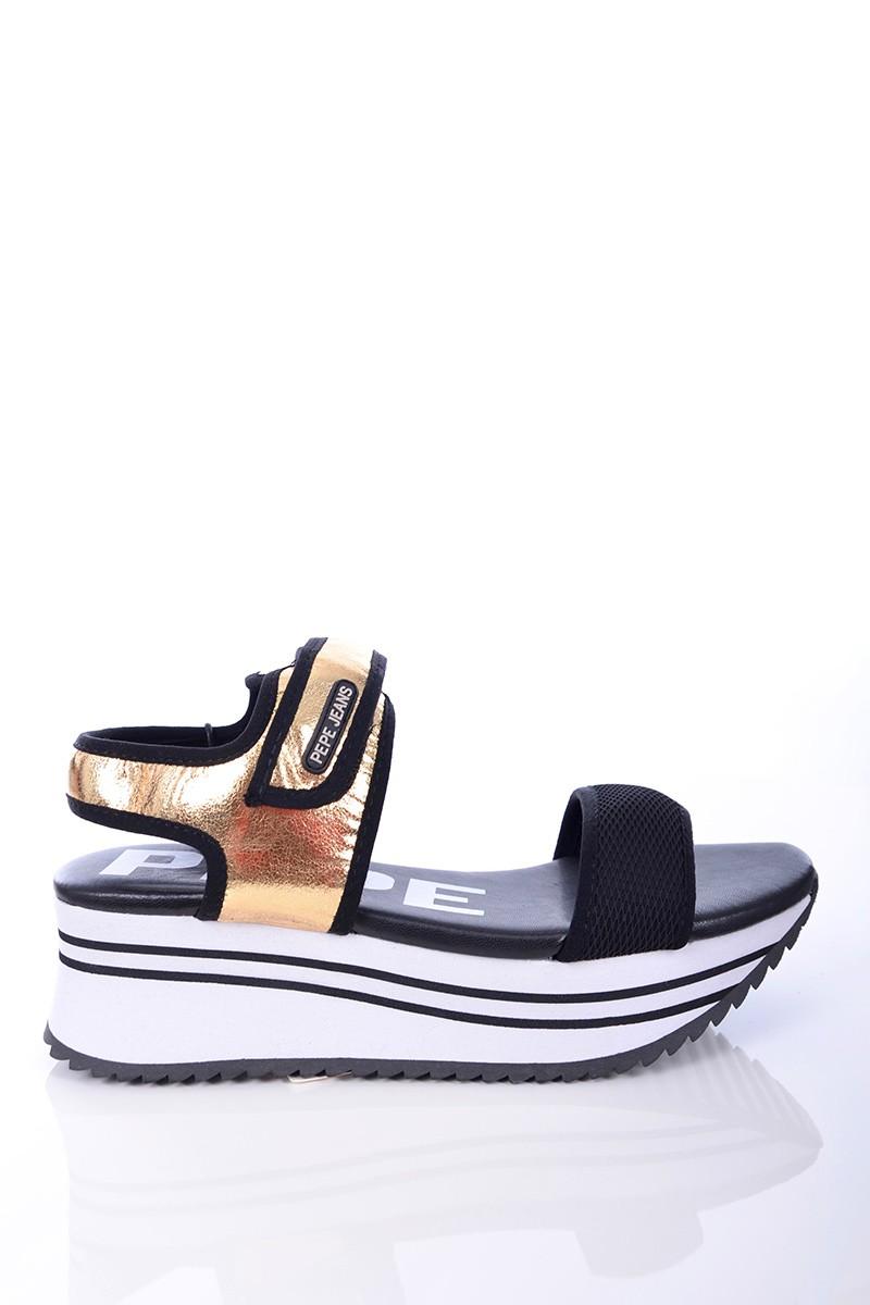 b121bcb4bad80 Pepe Jeans Sandały FUJI METAL GOLD PEPE JEANS - Butik Online MAICON