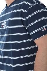 T-shirt TJM SIGNATURE STRIPE TEE BLACK IRIS TOMMY JEANS