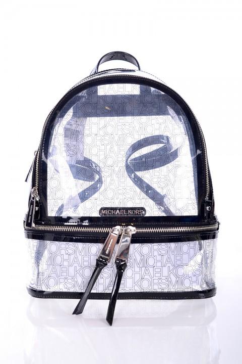 32977b1fb3527 Plecak THEA ZIP MD BACKPACK CLEAR BLACK MICHAEL KORS ...