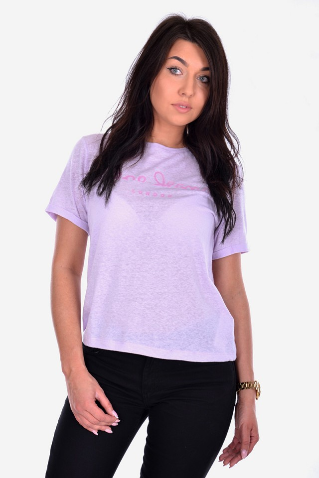 T-shirt VICTORIA WASHED LILAC PEPE JEANS