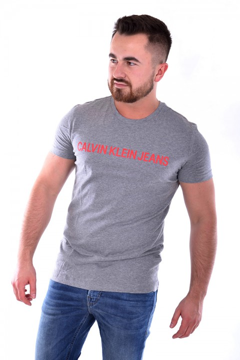 6d977614fb3bb T-shirt INSTITUTIONAL GREY CALVIN KLEIN JEANS ...