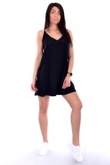Sukienka FLARED SLIP DRESS BLACK CALVIN KLEIN JEANS