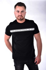 T-shirt FRONT TAPE BLACK GUESS