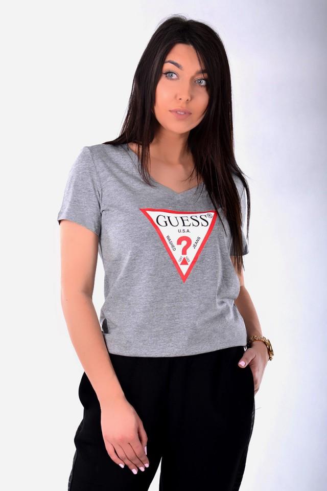 T-shirt LOGO TEE GREY GUESS