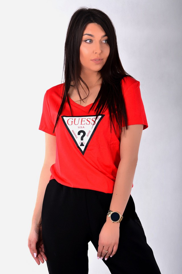 T-shirt LOGO TEE RED GUESS