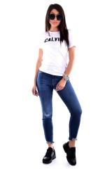 T-shirt SLIM VARSITY WHITE CALVIN KLEIN JEANS