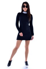 Sukienka LOGO COLLAR BLACK CALVIN KLEIN JEANS