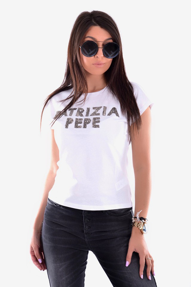 T-shirt MAGLIA BIANCO OTTICO WHITE PATRIZIA PEPE