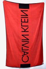 Ręcznik plażowy TOWEL BLACK RED CALVIN KLEIN